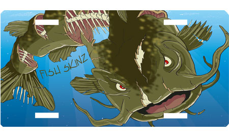 Flathead Catfish License Plate Fish Skinz Apparel